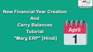Financial Year New Financial Year Creation In Marg Erp Hindi Youtube