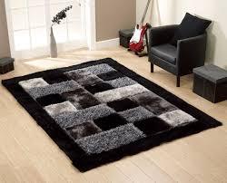 black and grey rugs uk