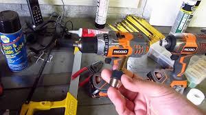 rigid drill. rigid cordless drill, impact driver, radio set review. drill m