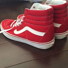 vans shoes red and white. red and white high top vans. vans shoes