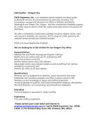 Best Drafting A Resume For Professional Autocad Drafter Templates