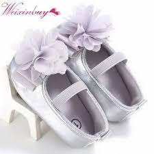 Newborn Baby Girl Shoes Spring Summer PU Soft Soled Flower Cotton ...