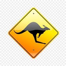 kangaroo warning sign royalty free clip art kangaroos pictures