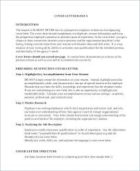Introductory Cover Letter Examples Introduction Job Cover Letter