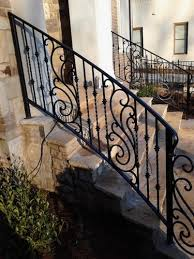 outdoor wrought iron railing parts. decorative exterior wrought iron handrail railing mediterranean house outdoor design ideas parts n