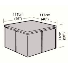 4 seater rattan cube set cover small 117cm