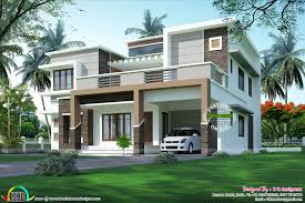 Kerala Home Colour Design Modern Flat Roof Sober Colored Home Kerala House Design