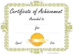 Free Online Printable Certificates Of Achievement Free Achievement Certificates Freeletter Findby Co
