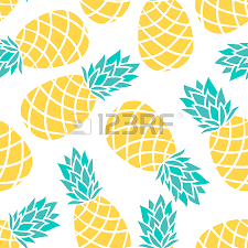 cute pineapple drawing. pineapple drawing: cartoon on a white background. simple vector background cute summer pattern drawing
