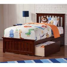 twin xl storage bed. Simple Storage Rosebery Kids Twin XL Storage Platform Bed In Walnut Intended Xl