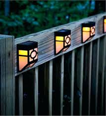 deck accent lighting. Solar Accent Lights Mission Style Deck Set Of 4 Outdoor Lighting In