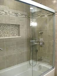 tile shower and tub tile accent idea for b bath love this accents and doors  this . tile shower and tub ...