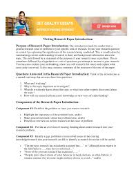 how to write research paper introduction writing research paper introductions purpose of research paper introduction the introduction leads the reader from