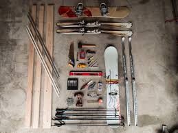 diy how to build a ski and snowboard rack