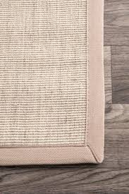 nuloom bordered maryjo sisal beige area rug 4 x 6