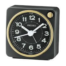 seiko travel alarm clock qhe144j new