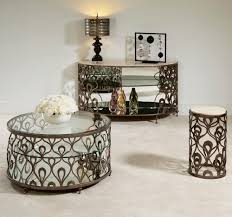 American Drew Coffee Table American Drew Bob Mackie Round End Table W Metal Base Beyond Stores
