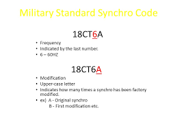 Military Standard Synchro Code