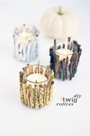 Diy Candle Holders Diy Twig Votive Candle Holders