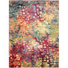 monaco pink multi 8 ft x 11 ft area rug