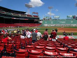 Fenway Park Football Seating Chart Fenway Park View From Field Box 27 Vivid Seats