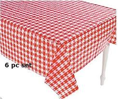 red and white checkered picnic tablecloth. Brilliant Tablecloth 6 Plastic Red And White Checkered Tablecloths  6 Pc Picnic Table Covers For And Tablecloth N