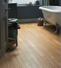 Small Bathroom Flooring Ideas - Luxury Vinyl Canadian Maple Plank