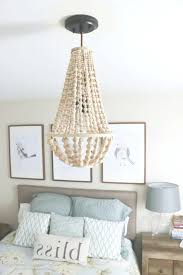 wood beaded chandelier come learn how to make your own wood bead throughout wooden beaded