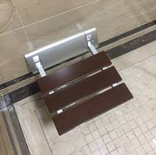 2018 diyhd width 12 inch modern solid wood folding shower bench brushed wall mount bathroom shower seat from diyhd 85 43 dhgate com