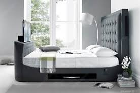 king size tv bed. Brilliant Bed Image Is Loading TitanMultiMediaKingSizeTVBedFrame With King Size Tv Bed H
