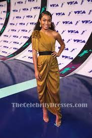 Yara Shahidi Birth Chart Yara Shahidi Sexy One Shoulder Draped High Low Evening Dress