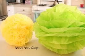 How To Make Tissue Paper Balls Decorations homey home design Tissue Paper Puff Balls 65
