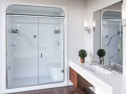 one piece shower stall with door