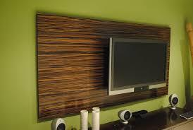 Custom Made Macassar Ebony Wood Wall Tv Panel