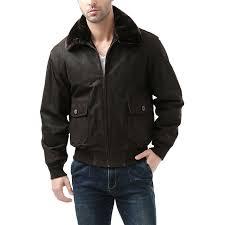 landing leathers navy men s g 1 distressed leather flight er jacket 0