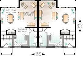 Attractive Duplex House Plan   DR   st Floor Master Suite    Floor Plan