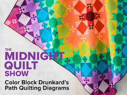 Drunkards Path Quilt Pattern Inspiration Color Block Drunkard's Path Quilting Diagram Midnight Quilt Show