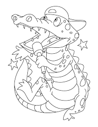 Small Picture Alligator And Crocodile Coloring Pages Apigramcom