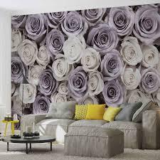 Fototapeta Květiny Růže Fialovo Bílé