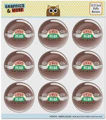 Amazon.com: Friends Central Perk Logo Puffy Bubble Dome Scrapbooking  Crafting Sticker Set