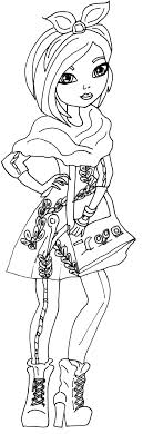 Ever After High Coloring Pages Raven