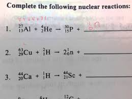 nuclear chemistry equations