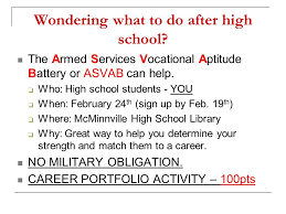 what do students do after high school wondering what to do after high school the armed services
