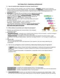 Biodiversity Classification Chart 6 Classification And Biodiversity