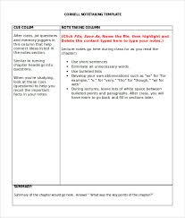 Sample Cornell Note Taking Template 8 Free Documents In Pdf Word