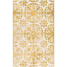 artistic weavers organic danielle mustard 5 ft x 8 ft indoor area rug