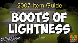 Runescape 2007 How To Get Boots Of Lightness