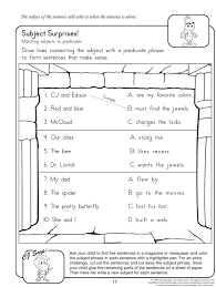 Subject Surprises - English Worksheet on Subject and Predicate ...