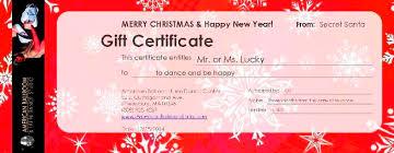 Holiday Gift Certificates Welcome To American Ballroom Latin Dance Studio