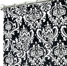 damask curtains black and white shower curtain image of clearance
